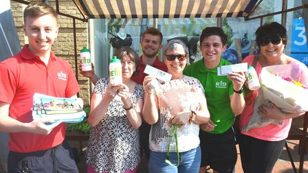 The team at Ely's new leisure centre, The Hive, were out and about on the Market Place at the weeken