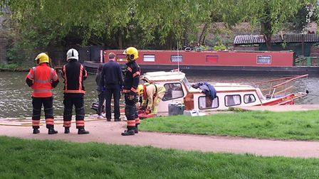 A boat explosion in Ely has injured three people this morning (April 24) near Willow Walk. PHOTO: Pa