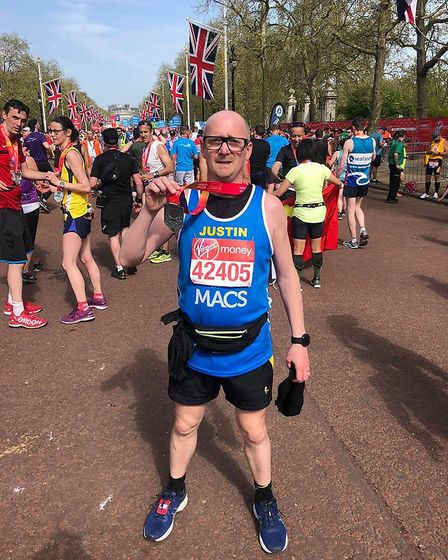 Justin Smith is one of the London Marathon runners whio completed the course successfully.