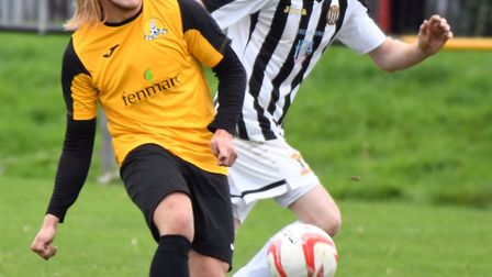 Jack Brand scored in March Town's defeat at Little Oakley. Photo: IAN CARTER