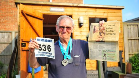 Arthur Cutter, 77, of Ely is remembering the day he was refused entrance to the London Marathon in 2