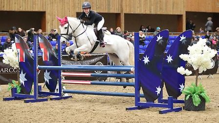 Adele Shaw, 12, a student at Kings Ely Junior, was the only competitor from a field of 68 riders to