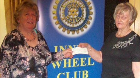 Ely Inner Wheel Club president Joy Hockey, right, with Lesley Gray, from Macmillan Cancer Support.