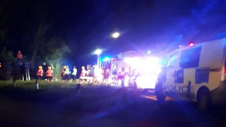 Crews were called to a crash on Cant's Drove, Murrow. Photo: @Cambs_Fire