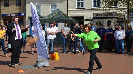 Eve of Eel Day trial run: Local businesses and office teams came together to test run the eel throwi