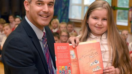 Students at Glebelands - Steve Barclay, MP for North East Cambridgeshire, has re-launched his campai