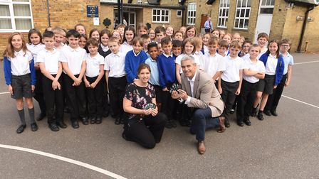 Students at Thomas Eaton - Steve Barclay, MP for North East Cambridgeshire, has re-launched his camp