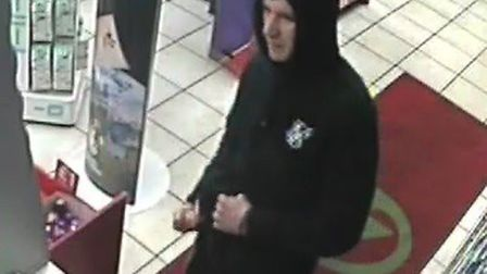 Police wish to talk to this man (pictured) in connection with a robbery that took place Whittlesey l