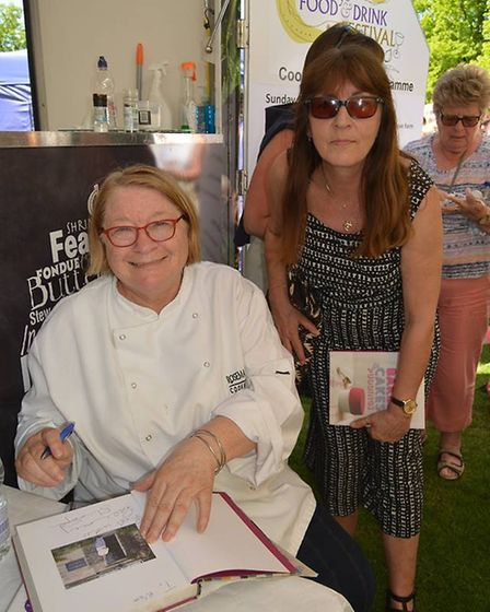Rosemary Shrager was on top form entertaining a large audience for her cookery demonstration at Ely'