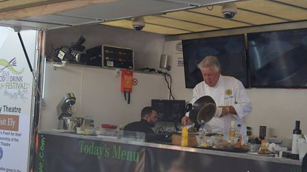 Brian Turner drew a huge crowd to watch his cookery demonstration at Ely's annual Food and Drink fes