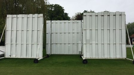 Cricket sightscreens stand beyond the boundary (pic Lee Power)