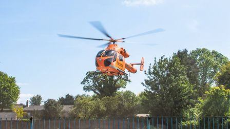 A man in his 60s was rushed to Hinchingbrooke Hospital after severely cutting himself in Chatteris.
