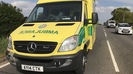 An accident between a lorry and car on the A47 between Guyhirn and Thorney temporarily blocked the r