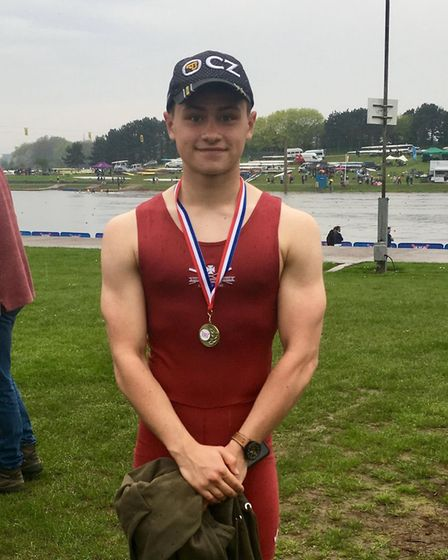 Matt Allen, who is from Sutton and a member of Rob Roy Boat Club junior scullers at Cambridge, won t