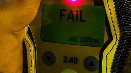 Policing Whittlesey say that the driver failed the road side breath test