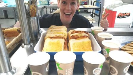 Chef in charge of catering, Julia Wilson, put in a bid for the free breakfasts last year