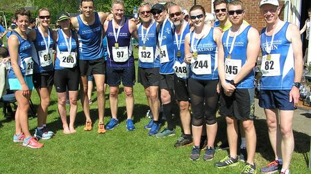 Grange Farm & Dunmow Runners at the High Easter 10k