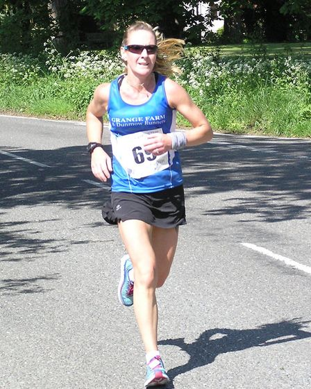 Grange Farm & Dunmow Runners Naomi Moss at the High Easter 10k