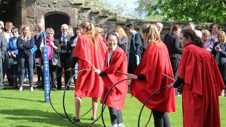 Crowds gathered outside a sun-kissed cathedral as King's Ely held their historic competition, the ho