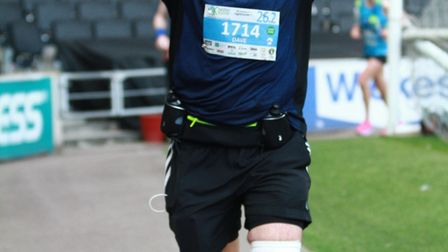 David Middlemass, aged 60, from Wimblington after a quadruple heart by pass in 2011 he ran the Milto