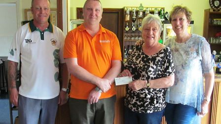 Whittlesey Manor Bowls Club marked the opening of their green for the new season by presenting a £76