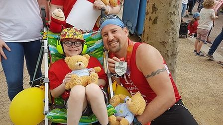 Dustin Erhardt, from North Dakota, met Samuel from Ely, who has autism, through the organisation I R