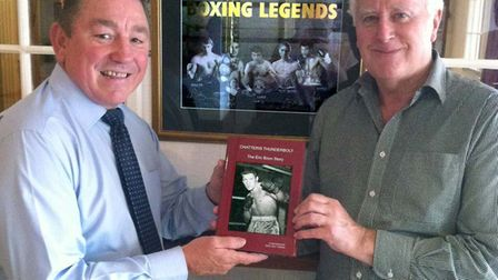 Dave 'Boy' Green and Bob Lonkhurst with the Eric Boon book
