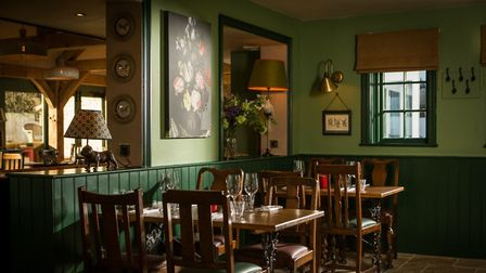 The stylish interior of The Boot in Histon