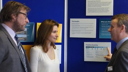 Lucy Frazer at a presentation in 2015 by Network Rail at the Lighthouse in ?Ely? to learn more about