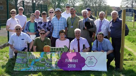 Wisbech In Bloom volunteers launch their In Bloom campaign with representatives and supporters from