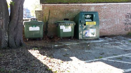 Mounds of rubbish was dumped on a car park and by the roadside in Soham and Fordham. Picture: East