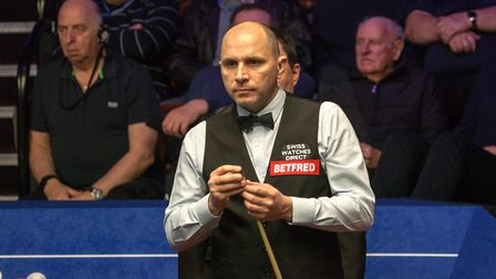 Joe Perry during his World Championships second round match against Mark Allen. Picture: TONY RUSHME