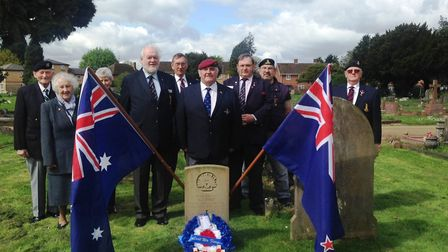 The Wisbech branch of the RAFA visited Samuel Jude's grave in Mount Pleasant Cemetery to pay their r