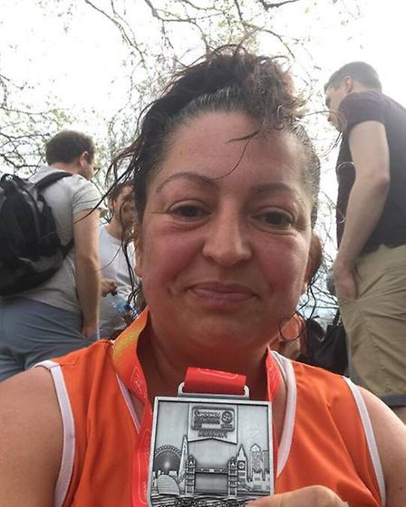Laura Palmer successfully completes the London Marathon
