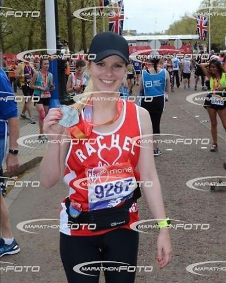 Rachel Wright completed the marathon with her mother Lesley.