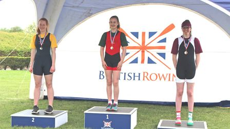 Junior rower Seren Palmer (left) from Isle of Ely Rowing Club represented the Eastern region of Engl