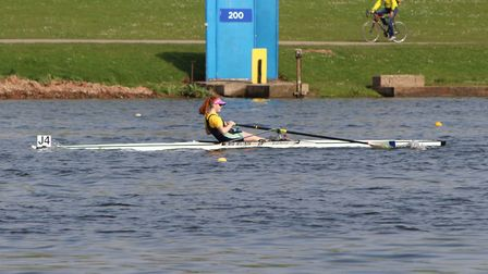 Junior rower Seren Palmer from Isle of Ely Rowing Club represented the Eastern region of England at