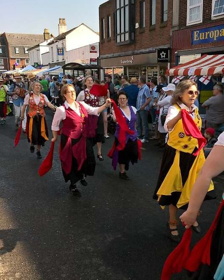 Some of the fun of the fayre from St George's Day, March, 2018. PHOTO: Kathy Burbridge