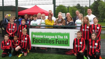 John Shannon (centre), the FA Respect 'Supporter of the Year', joined Bottisham Village College Prin