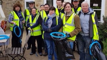 A team of more than 10 decided to do the clean-up as a thank you to The Almonry Ely.