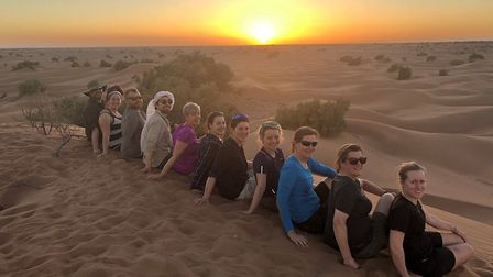 The Spencers and 14 others trek the Sahara to rasie more than £64,000 for Arthur Rank Hospices.