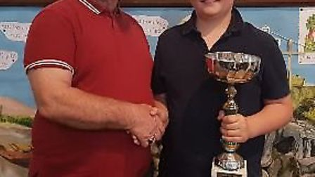 March Brass 2000 celebrated their most improved player in the junior band at a recent ceremony. A cu