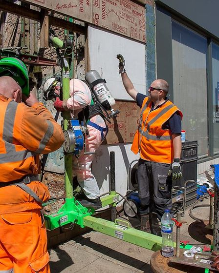 Work is progressing on the Wisbech High Street project