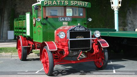 The 1919 Albion Anglo-American Oil Company delivery lorry which sold for £60,900 - The Cheffin's Cam
