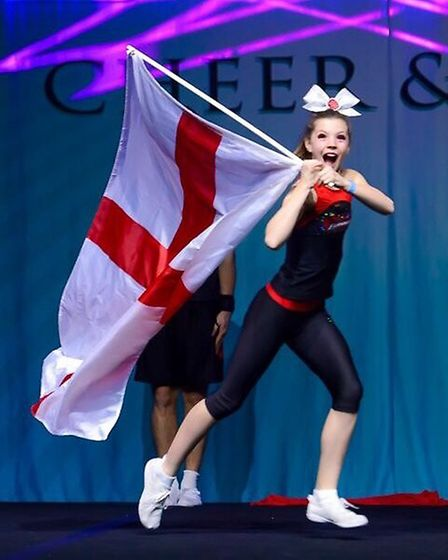 Tabitha competed with Team England ParaCheer