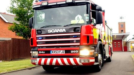 Arsonists set a van alight on New Road, Whittlesey, last night (May 2).