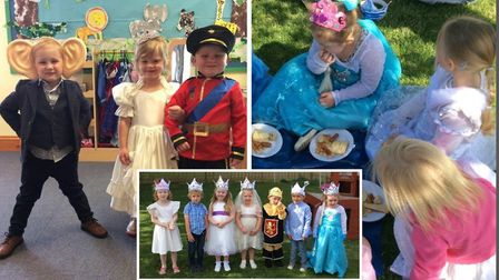 More than 100 Maple Grove Pre-School children partied to celebrate Prince Harry and Meghan Markles R