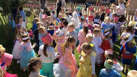 More than 100 Maple Grove Pre-School children partied to celebrate Prince Harry and Meghan Markle's