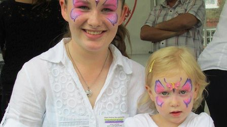Face painting at last year's Etheldreda Craft and Food Fair in Ely.