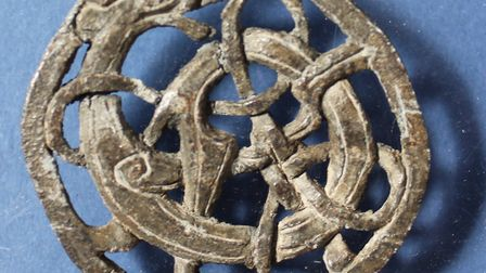The Community Archaeology Dig will run between 10.30am and 4pm. Pictured here is the brooch.